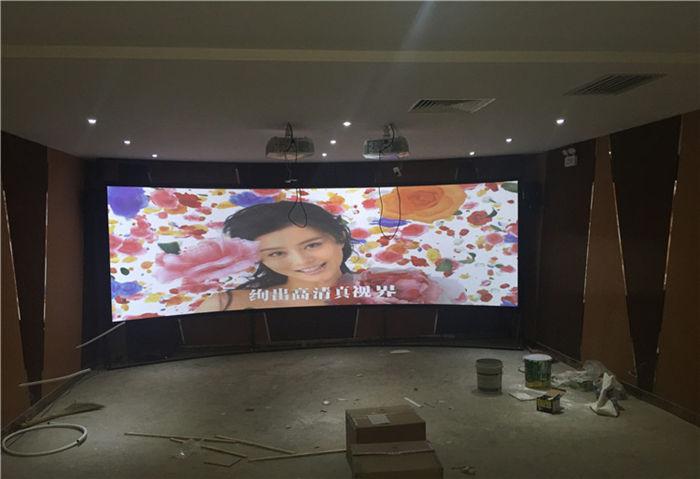 新疆克拉玛依项目中使用的立体弧形幕