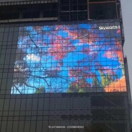 湖北LED透明幕墙屏有什么优势?你知道吗