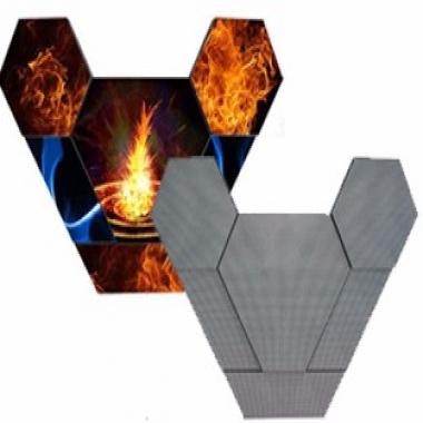 武汉LED创意显示屏猫头鹰牛角屏直角屏