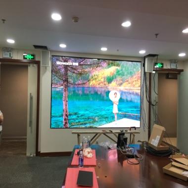 某企业视频会议系统LED全彩屏