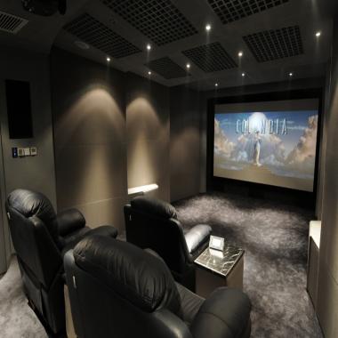 顶级私人影院配置与豪华装修搭载智能中控系统