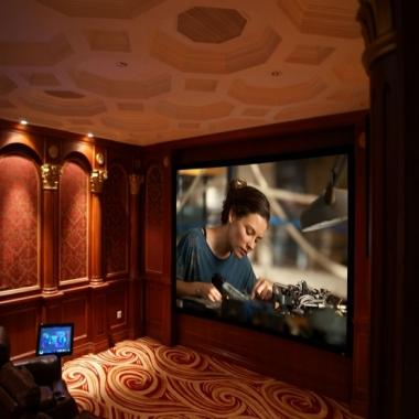 欧式奢华私家影院设计装修全记录