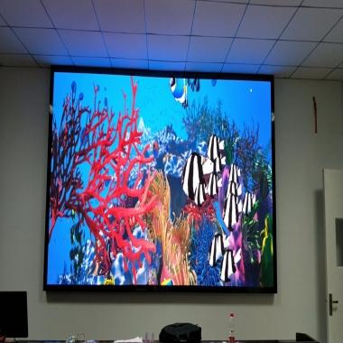 武汉某学院会议室小间距LED显示屏