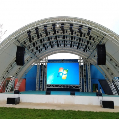 湖北鄂州舞台户外LED显示屏项目