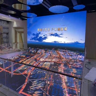 规划馆室内地砖LED显示屏展示