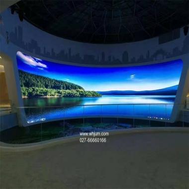湖北室内弧形曲面LED显示屏案例
