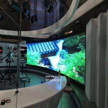 室内全彩弧形曲面LED显示屏案例