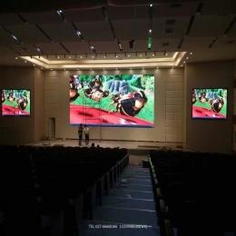 舞台报靠厅LED显示屏主屏副屏定制安装案例