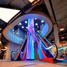 电梯口方型立柱式LED创意全彩显示屏定制
