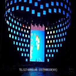 华夏光彩多屏拼接异型LED显示屏室内全彩