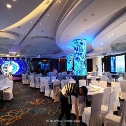 酒店大厅圆柱及婚庆LED电子显示屏