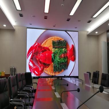 武汉中建钢构P2会议室LED显示屏案例展示