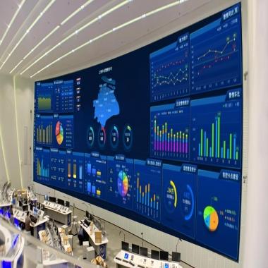武汉光谷建设室内P1.66全彩LED显示屏案例